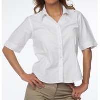 BLUSA OXFORD M/C 70% ALG, 30% POLY